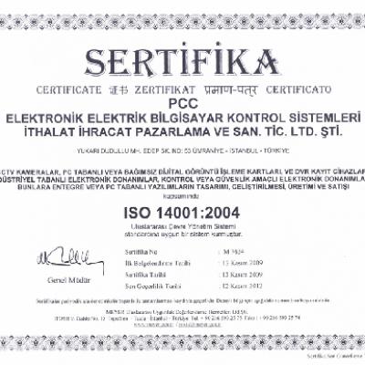 PCC Elektronik ISO 14001 Sertifikası
