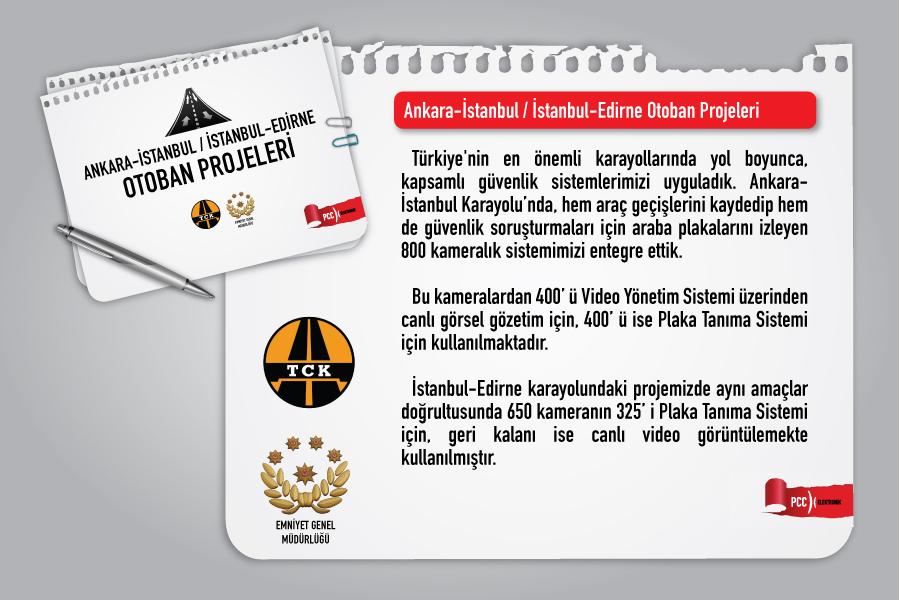 Ank - İst / İst - Edirne Otoban Projeleri | Video Yönetim Sistemi | Güvenlik Yazılımı |Plaka Tanıma Sistemi